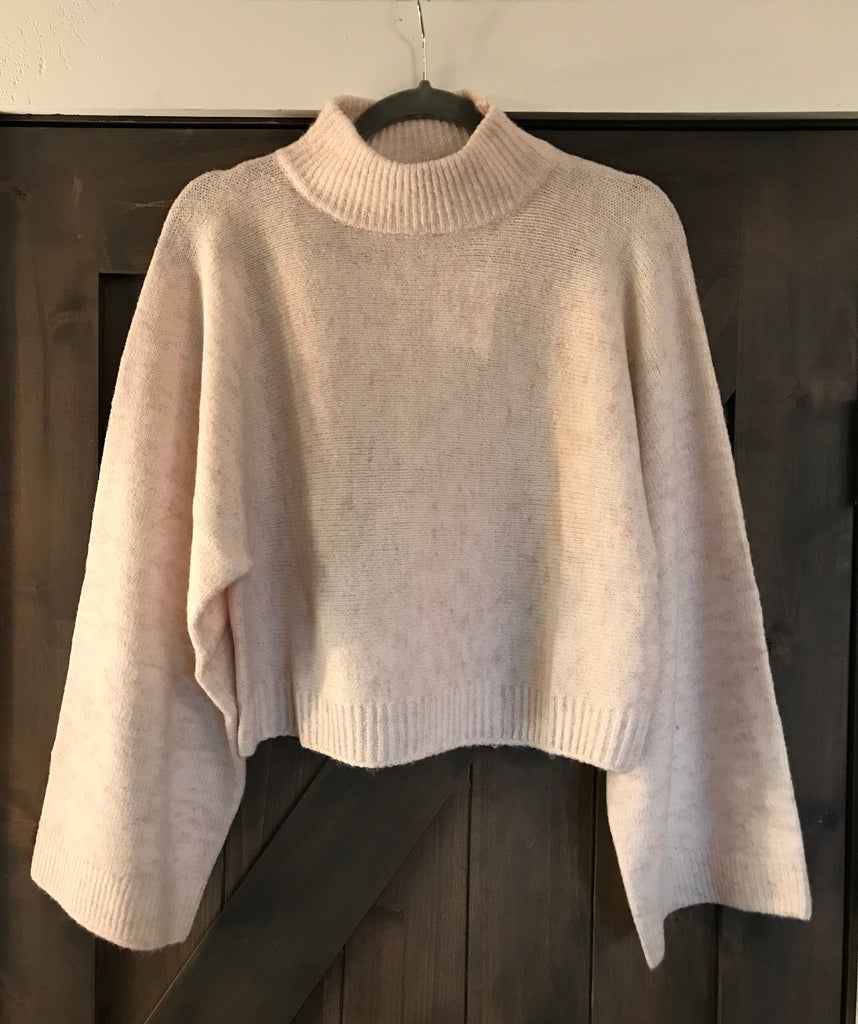 Light Pink Wide Sleeve Knit Sweater