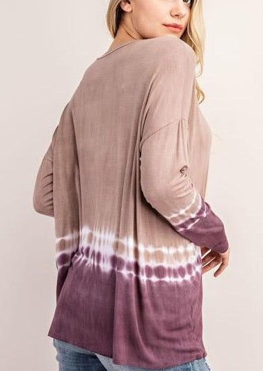 Tye Dye Basic Long Sleeve Tunic Top