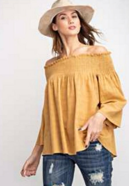 Off the Shoulder Textured Top