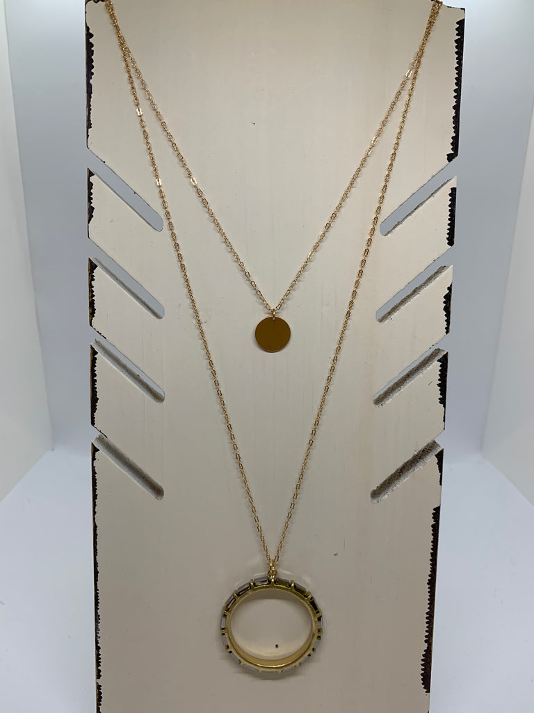 Long Double Pendent Necklace