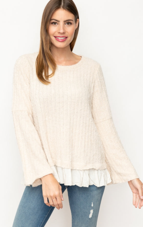 Sweater Texture With Bottom Ruffles