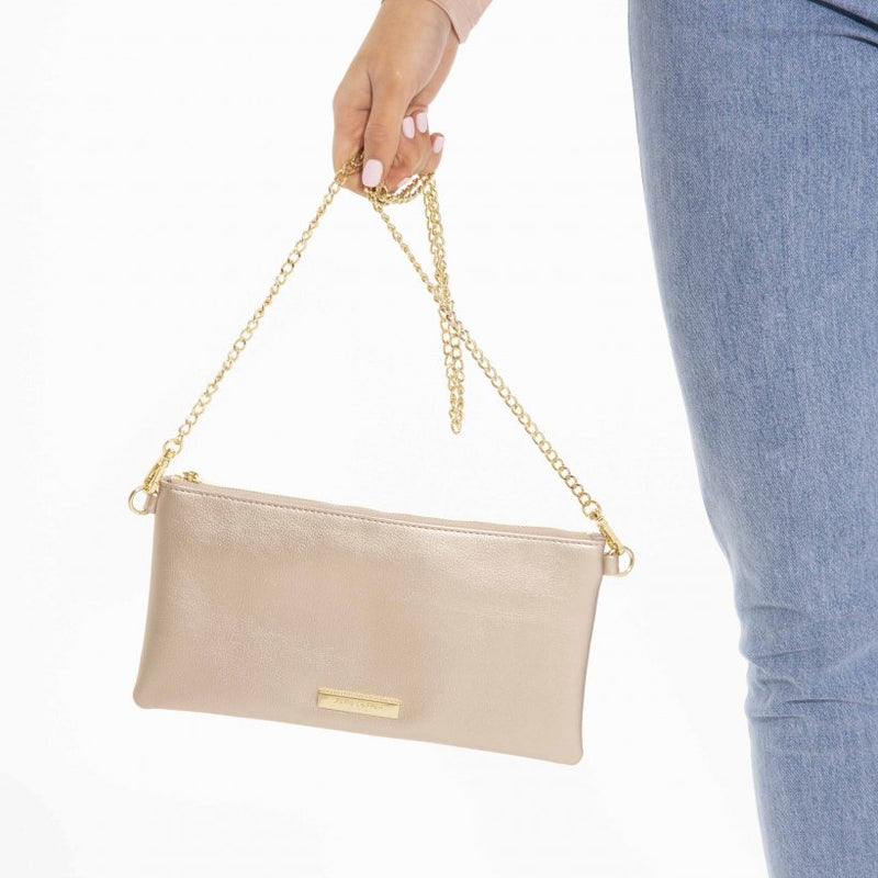 The Fredrica Crossbody (Metallic Champagne)