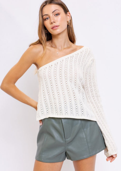 Only One Shoulder Sweater