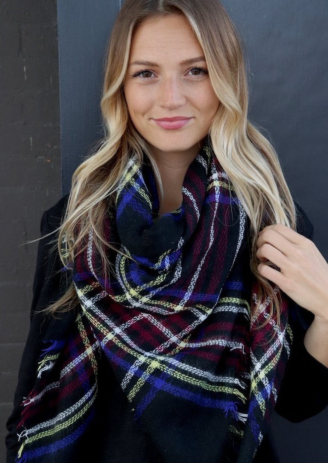 Multi Striped Blanket Scarf