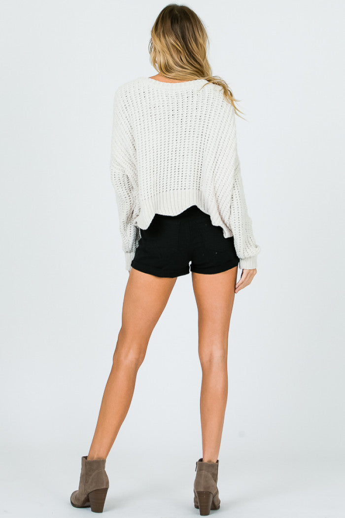 Ivory Waves Sweater