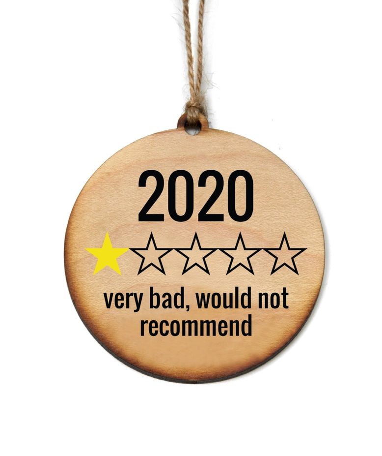 Wooden 2020 Rating Ornament