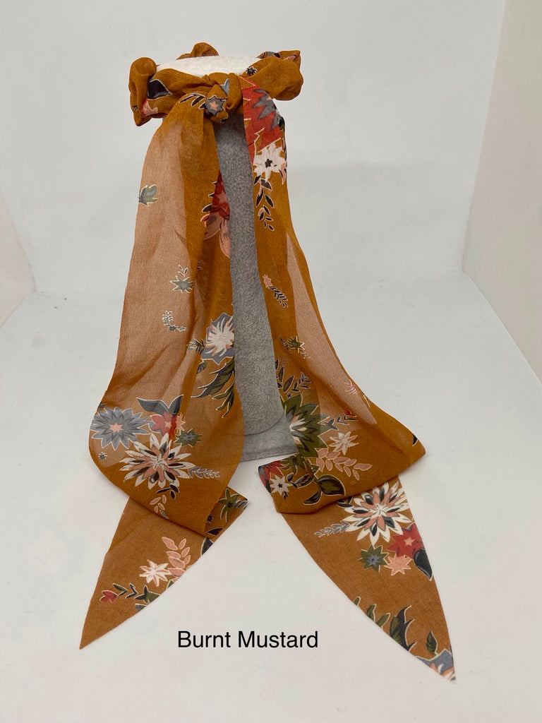 Old Time Floral Hair Scarf
