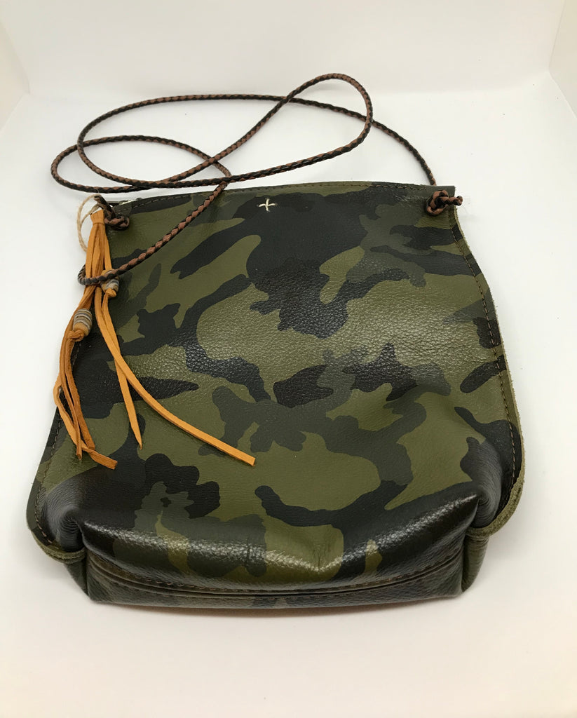 Camouflage Leather Crossbody