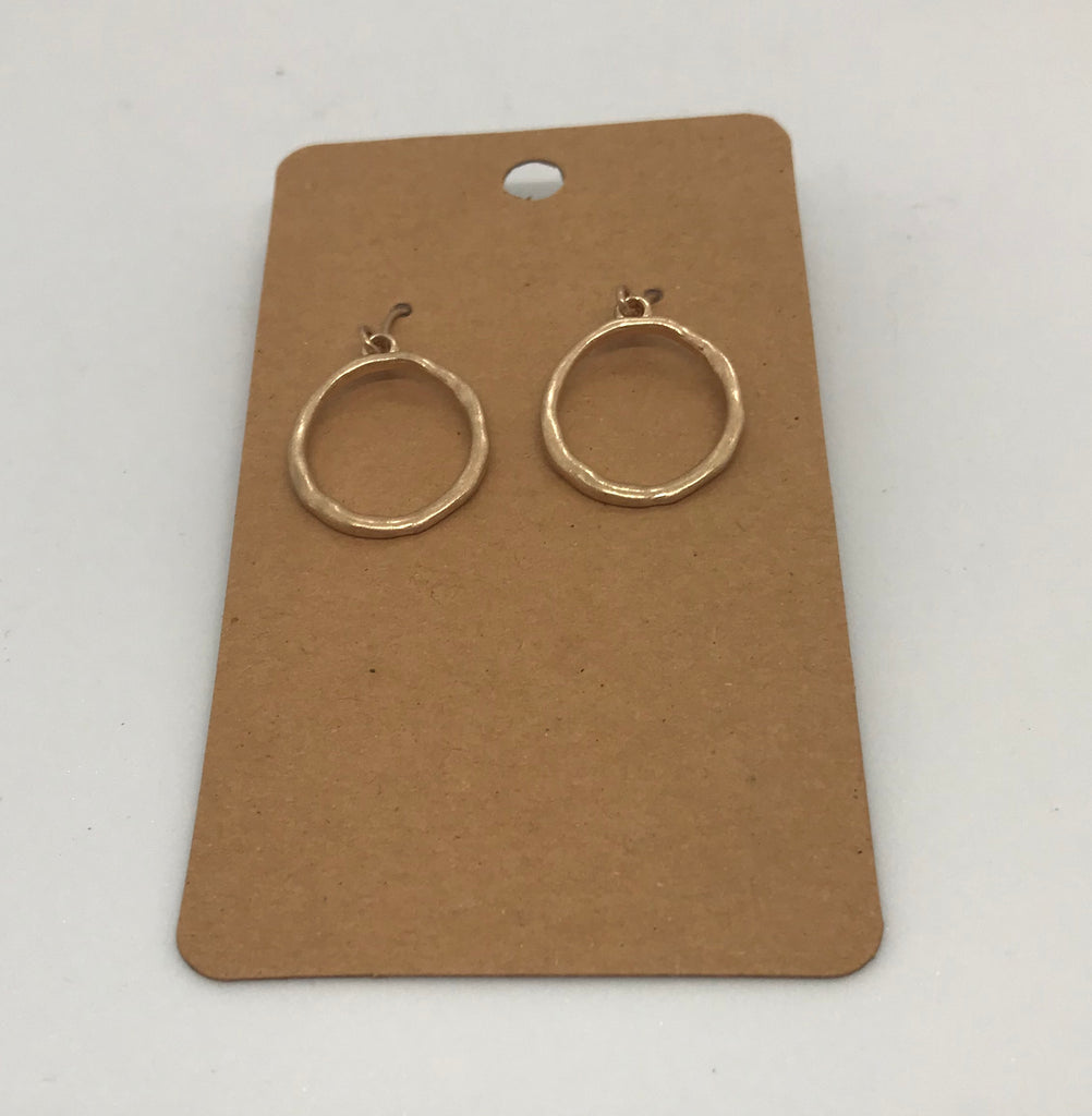 Metal Circle Dangle Earrings