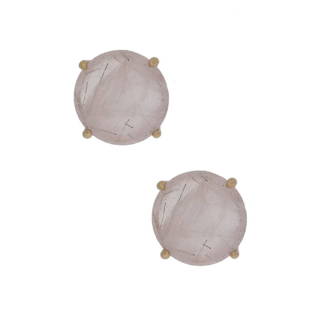 Clear-Natural Stone Stud