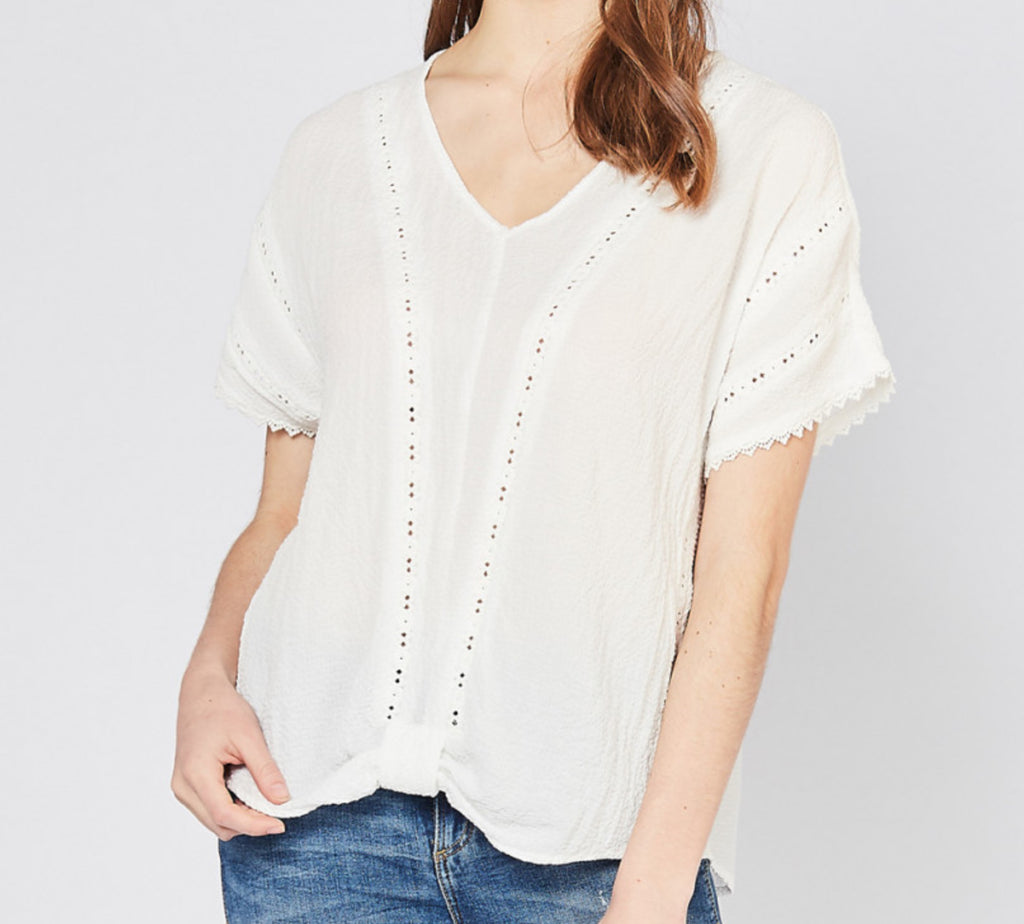 Truly Textured Top with Crochet Details