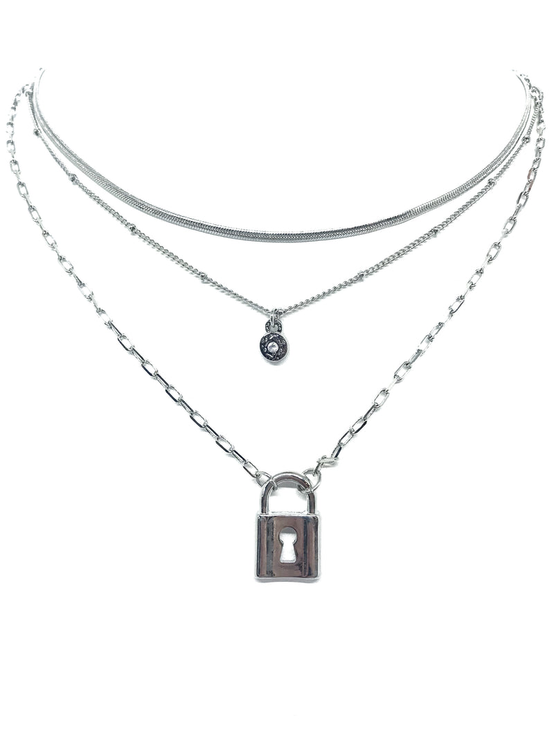 The Triple Layer Lock Box Necklace