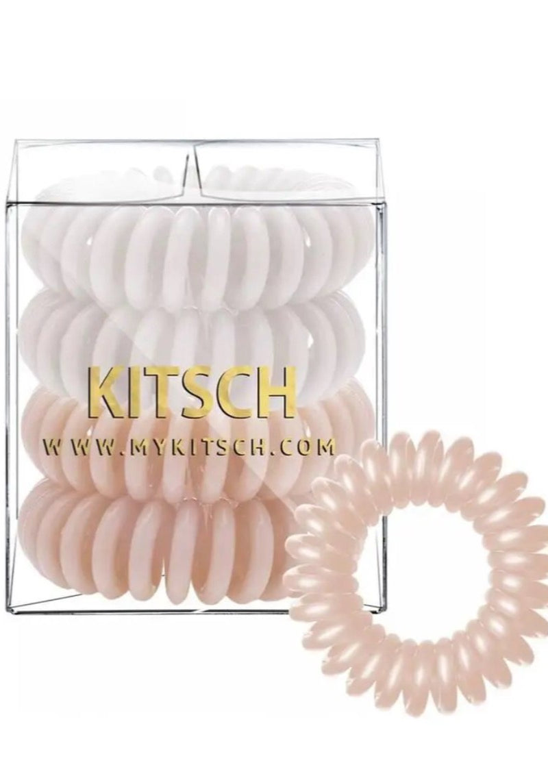 Nude Hair Coils - Pack of 4