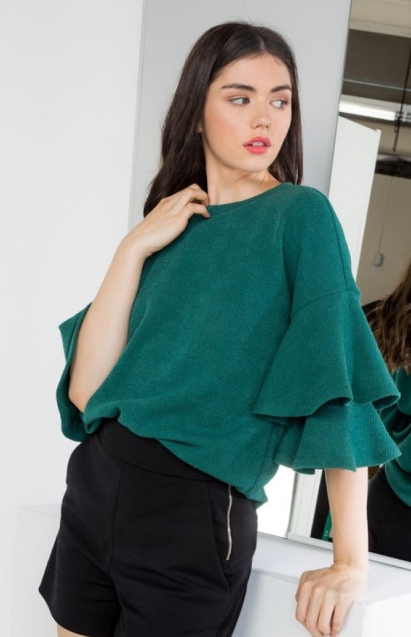 Call Me Classy Layered Sleeve Top