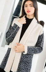 On The Radar Fur Collared Cardigan