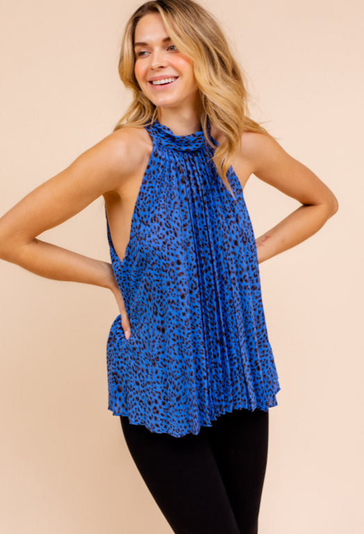At A Crossroads Leopard Top