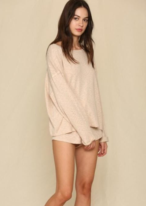 cozy knit sweater top