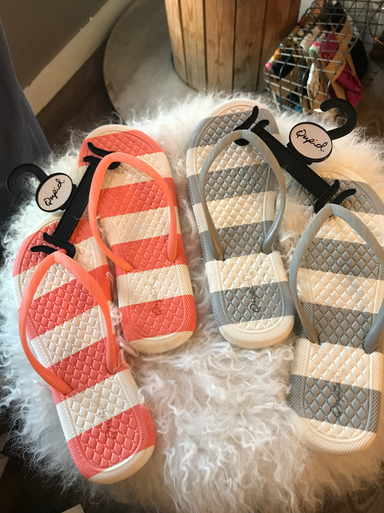 """Funday"" Striped Sandal"