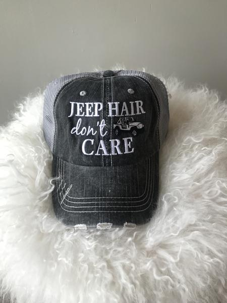 """Jeep Hair Don't Care"" Hat"