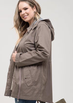 Stay Warm Hooded Utility Jacket (Curvy Collection)