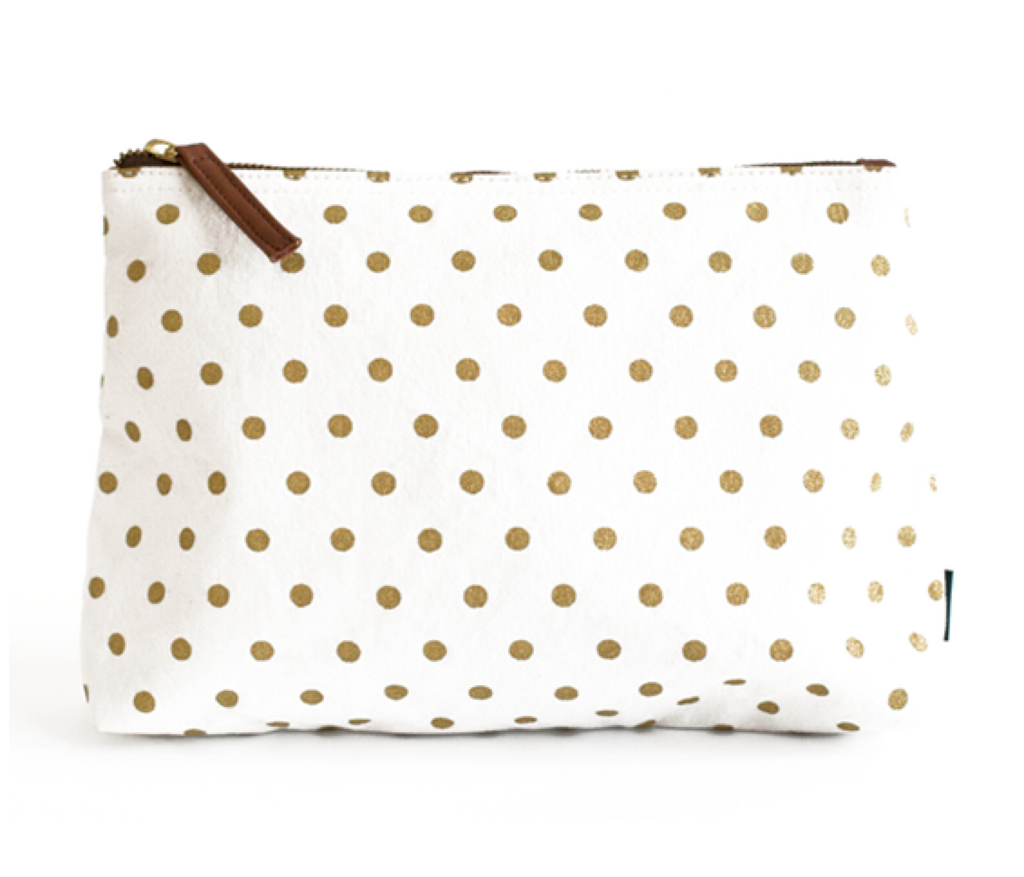 Medium Sized Canvas Zipper Pouch