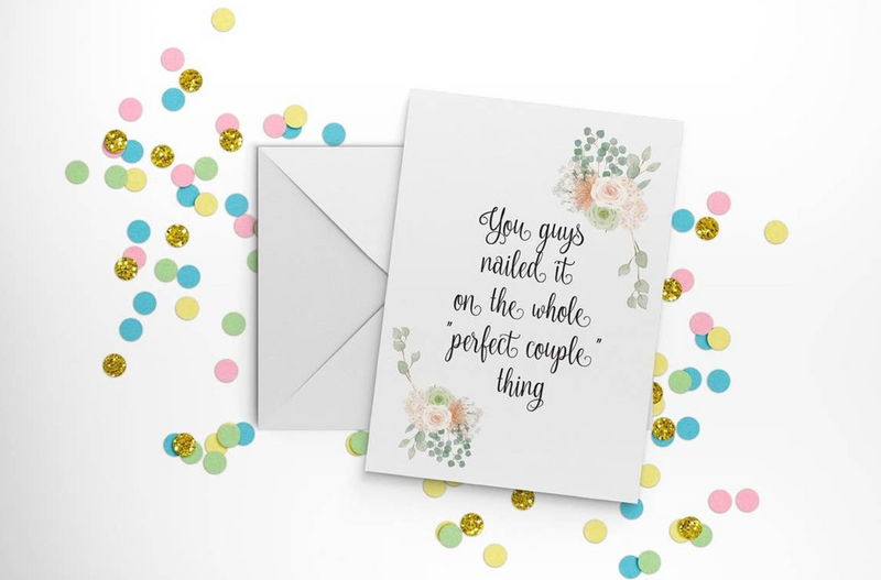 """Perfect Couple"" Wedding Card"