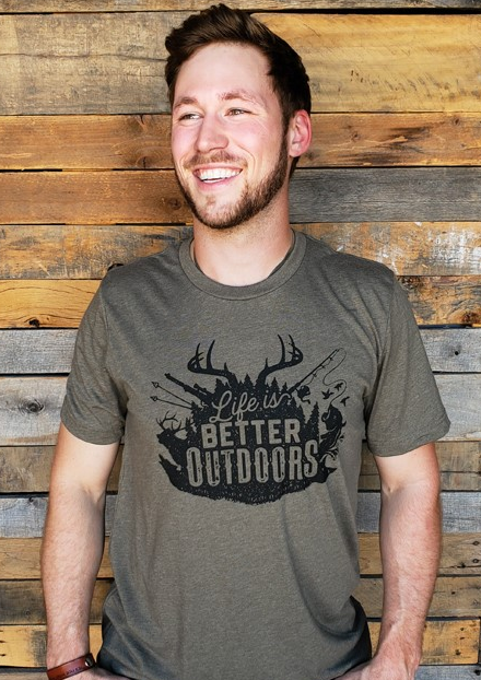 """Life is Better Outdoors"" T-Shirt"