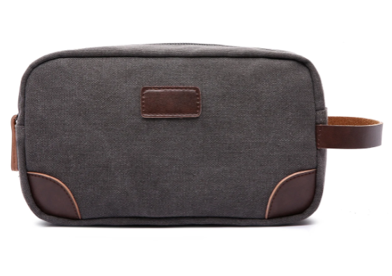 Canvas and Leather Dopp Kit