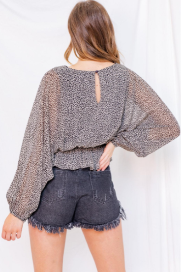 Into the Wild Long Sleeve Blouse
