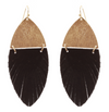 Cowhide Feather Earring