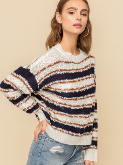 Just Another Day Striped Sweater
