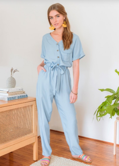 Moments Like This Chambray Jumpsuit