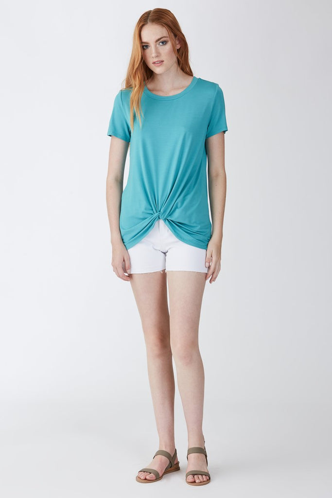 Julia Front Knot Tee