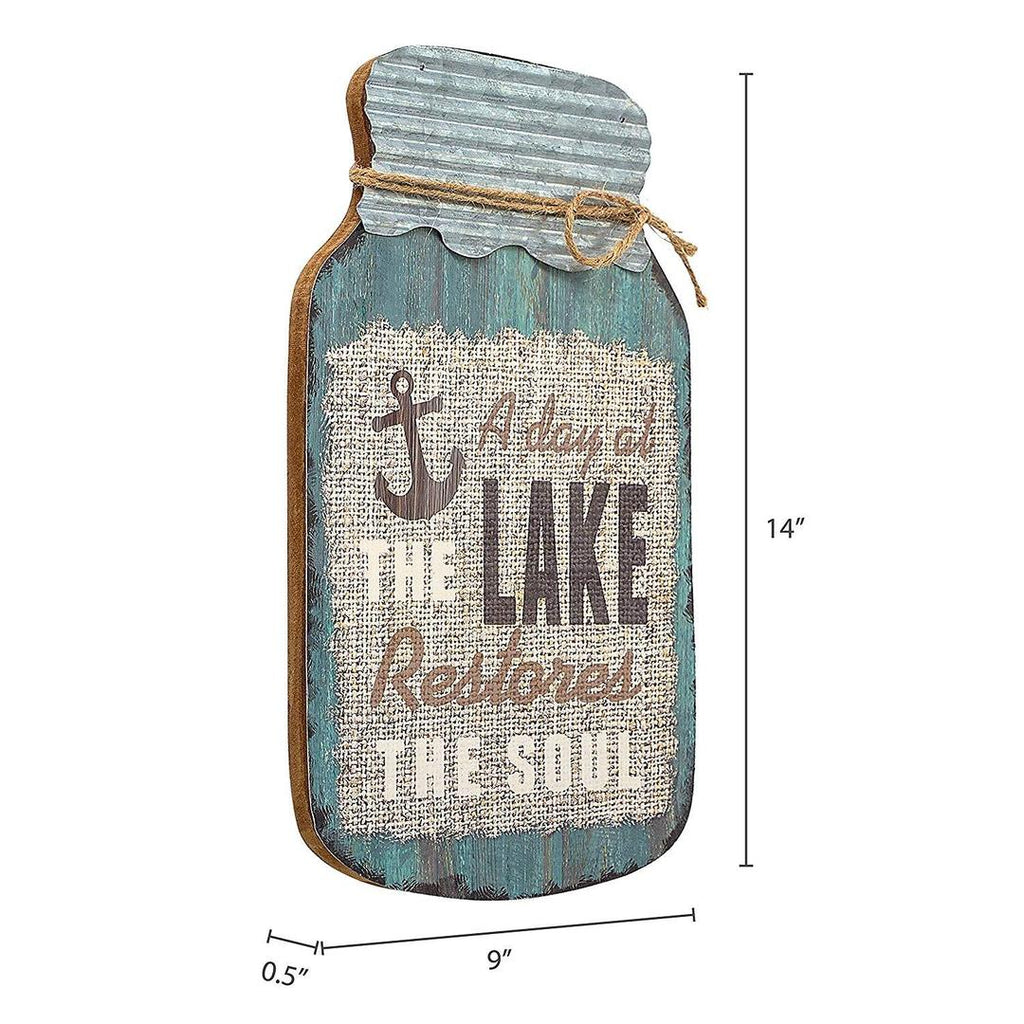 """A Day At The Lake"" Mason Jar Wall Hanging"