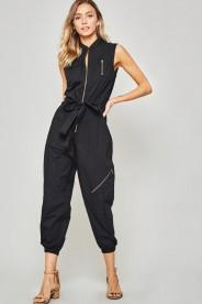 Jogger Jumpsuit with Zipper