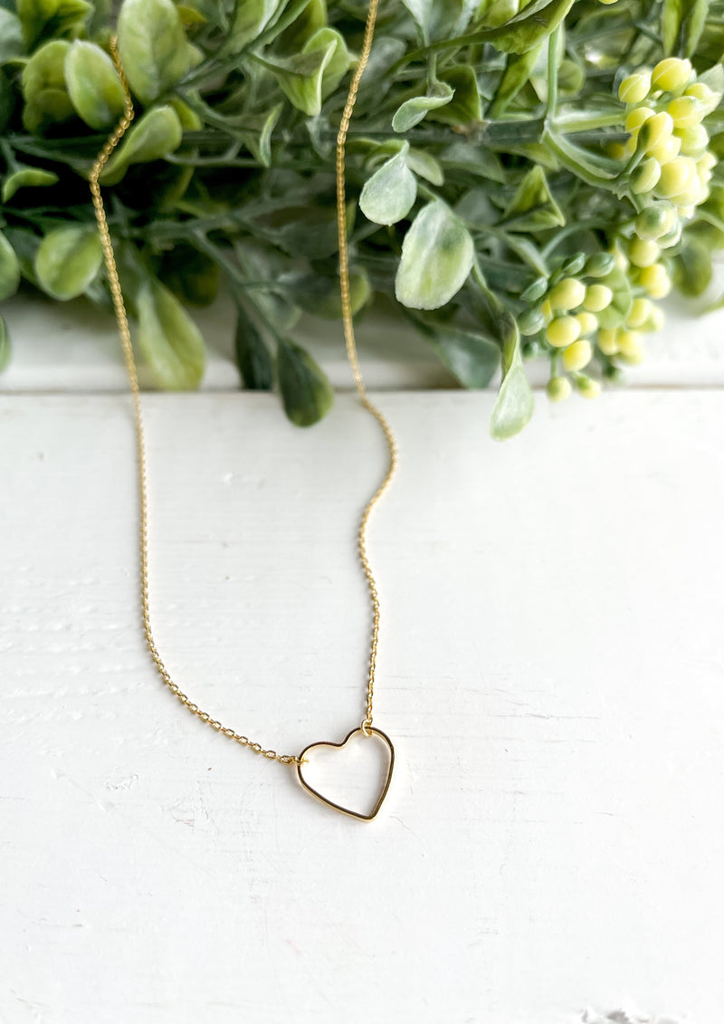 I Heart You Necklace (Gold)