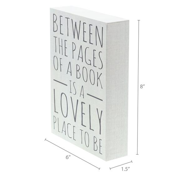 """Pages of a Book"" Box Sign"