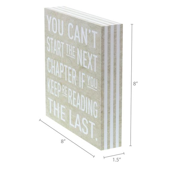 """Start the next chapter"" Box Sign"