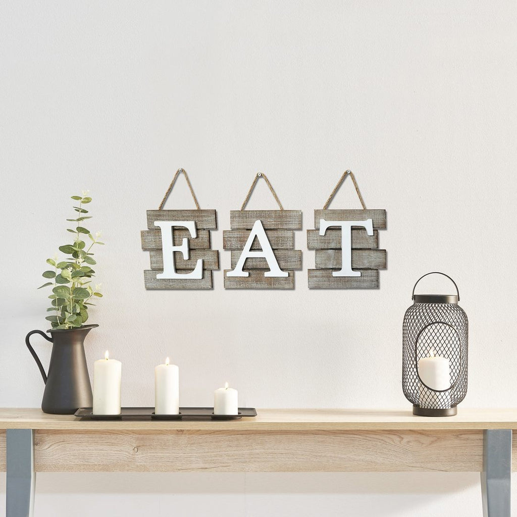 "Barnwood ""EAT"" Wall Hanging"