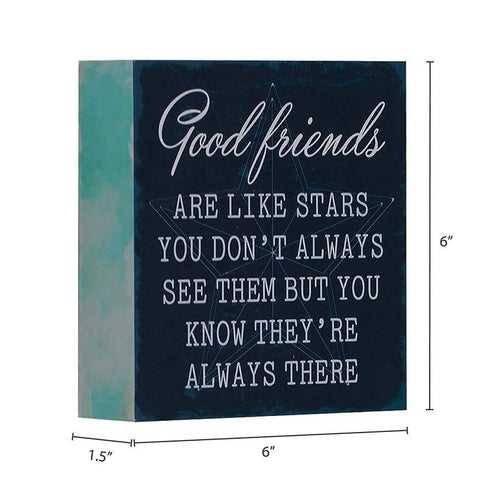 """Good Friends Are Like Stars"" Box Sign"