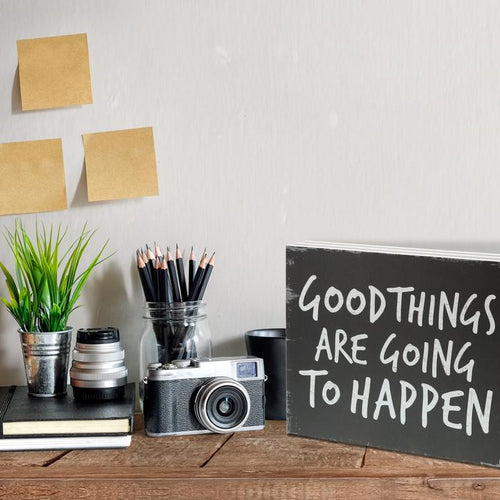 """Good Things Are Going to Happen"" Box Sign"