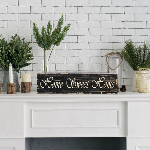 """Home Sweet Home"" Wooden Box Sign"