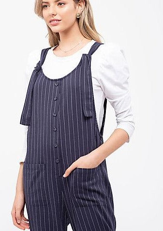 Yacht Or Not Striped Jumpsuit