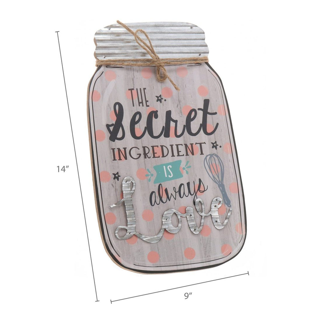 """Secret Ingredient"" Mason Jar Sign"