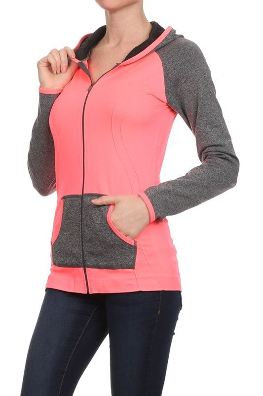 Orange Athletic zip up