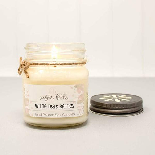 """White Tea & Berries"" Soy Candle"