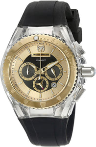 TechnoMarine Cruise Pearl Chronograph Gold Dial Ladies Watch 115173 - Boutique Watches & More