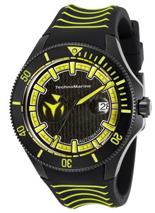 TECHNOMARINE CRUISE MENS AUTOMATIC 47 MM BLACK CASE BLACK DIAL - MODEL TM-118017 - Boutique Watches & More