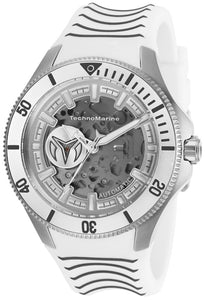 TECHNOMARINE MEN'S TM-118021 AUTOMATIC 3 HAND SILVER TRANSPARENT DIAL WATCH - Boutique Watches & More