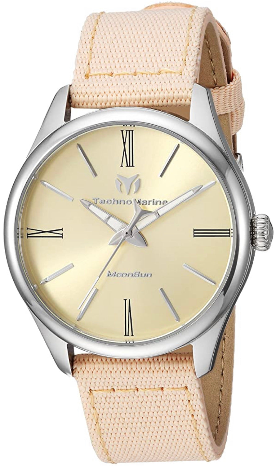 TECHNOMARINE MOONSUN WOMENS 36MM STAINLESS STEEL CASE METAL DIAL -MODEL TM-117013 - Boutique Watches & More